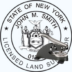 Land Surveyor Seal - Desk - New York