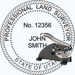Land Surveyor Seal - Desk - Utah