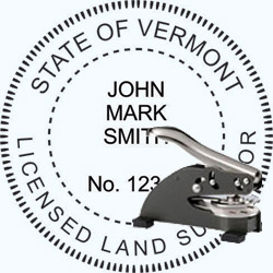 Land Surveyor Seal - Desk - Vermont