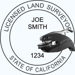 Land Surveyor Seal - Pocket - California