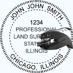 Land Surveyor Seal - Pocket - Illinois