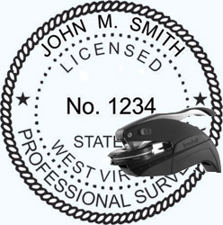 Land Surveyor Seal - Pocket - West Virginia