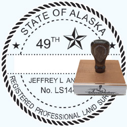 Land Surveyor Stamp - Alaska