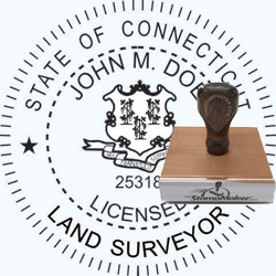 Land Surveyor Stamp - Connecticut