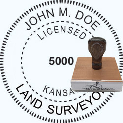 Land Surveyor Stamp - Kansas