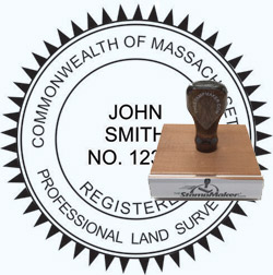 Land Surveyor Stamp - Massachusetts