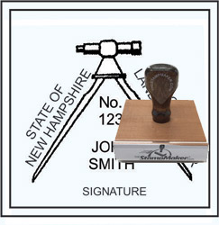 Land Surveyor Stamp - New Hampshire