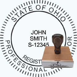 Land Surveyor Stamp - Ohio
