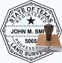 Land Surveyor Stamp - Texas