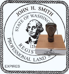 Land Surveyor Stamp - Washington