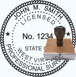 Land Surveyor Stamp - West Virginia