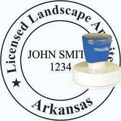 Landscape Architect Seal - Pre Inked Stamp - Arkansas