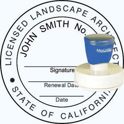 Landscape Architect Seal - Pre Inked Stamp - California