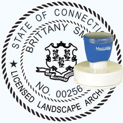 Landscape Architect Seal - Pre Inked Stamp - Connecticut