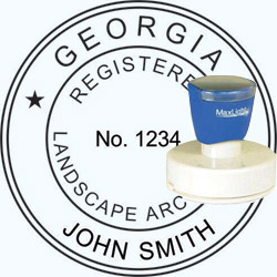 Landscape Architect Seal - Pre Inked Stamp - Georgia
