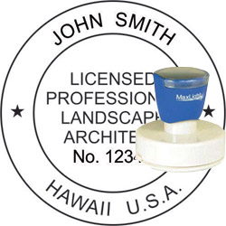 Landscape Architect Seal - Pre Inked Stamp - Hawaii