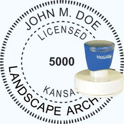 Landscape Architect Seal - Pre Inked Stamp - Kansas