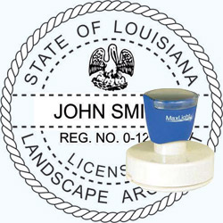 Landscape Architect Seal - Pre Inked Stamp - Louisiana