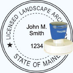 Landscape Architect Seal - Pre Inked Stamp - Maine