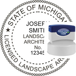 Landscape Architect Seal - Pre Inked Stamp - Michigan
