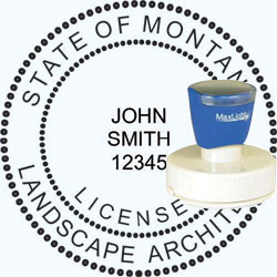 Landscape Architect Seal - Pre Inked Stamp - Montana