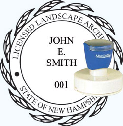 Landscape Architect Seal - Pre Inked Stamp - New Hampshire
