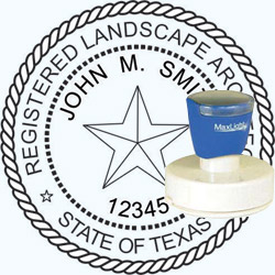 Landscape Architect Seal - Pre Inked Stamp - Texas
