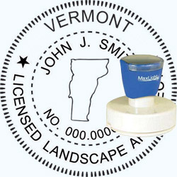 Landscape Architect Seal - Pre Inked Stamp - Vermont