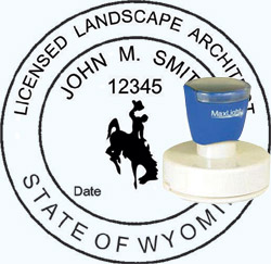 Landscape Architect Seal - Pre Inked Stamp - Wyoming