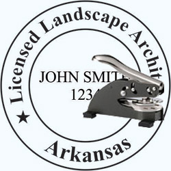 Landscape Architect Seal - Desk -  Arkansas