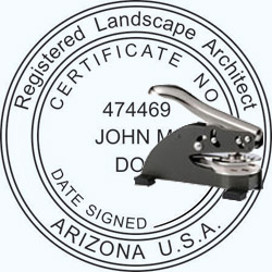 Landscape Architect Seal - Desk -  Arizona