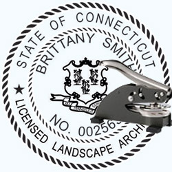 Landscape Architect Seal - Desk -  Connecticut