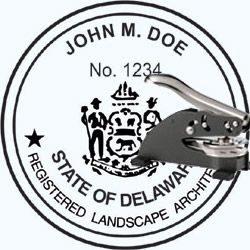 Landscape Architect Seal - Desk -  Delaware