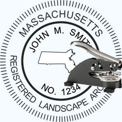 Landscape Architect Seal - Desk -  Massachusetts