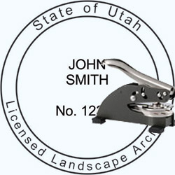 Landscape Architect Seal - Desk -  Utah
