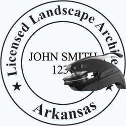 Landscape Architect Seal - Pocket - Arkansas