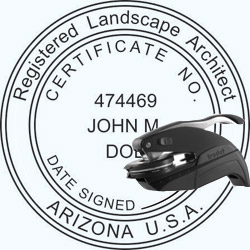 Landscape Architect Seal - Pocket - Arizona