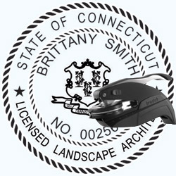 Landscape Architect Seal - Pocket - Connecticut