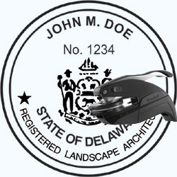 Landscape Architect Seal - Pocket - Delaware