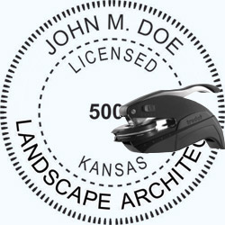 Landscape Architect Seal - Pocket - Kansas