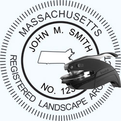 Landscape Architect Seal - Pocket - Massachusetts