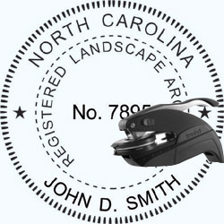 Landscape Architect Seal - Pocket - North Carolina