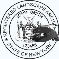 Landscape Architect Seal - Pocket - New York