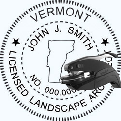 Landscape Architect Seal - Pocket - Vermont
