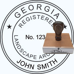 Landscape Architect Seal - Wood Stamp - Georgia