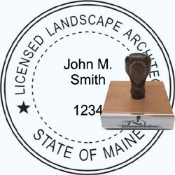 Landscape Architect Seal - Wood Stamp - Maine
