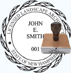 Landscape Architect Seal - Wood Stamp - New Hampshire