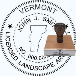 Landscape Architect Seal - Wood Stamp - Vermont