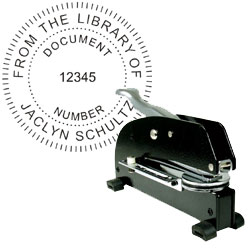 Long Reach Desktop Embosser with Text