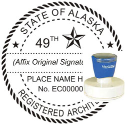 Architect Seal - Pre Inked Stamp - Alaska